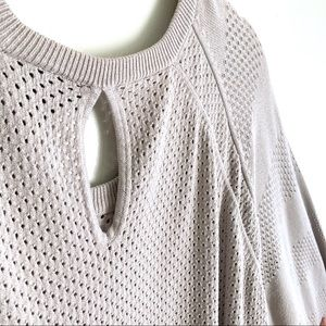 Lane Bryant Sweaters - Lane Bryant Crew Neck Perforated Sweater